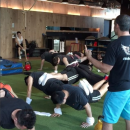 Four Person Pushup